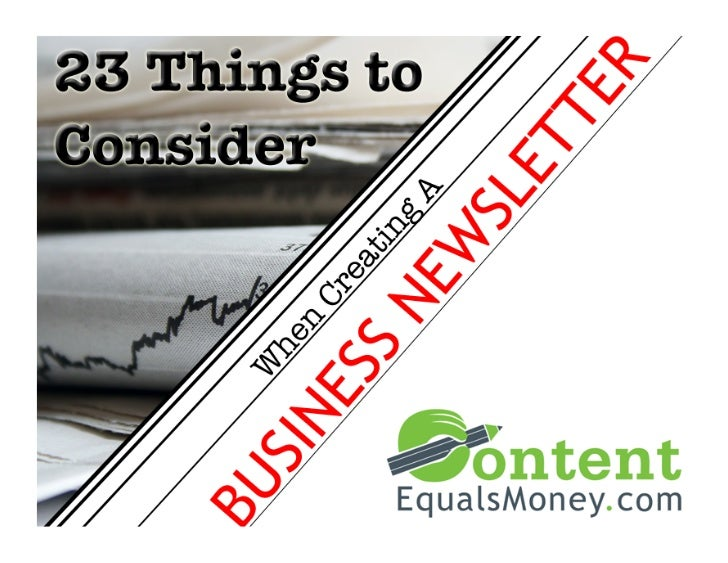 23 Things to Consider When Creating a Business Newsletter