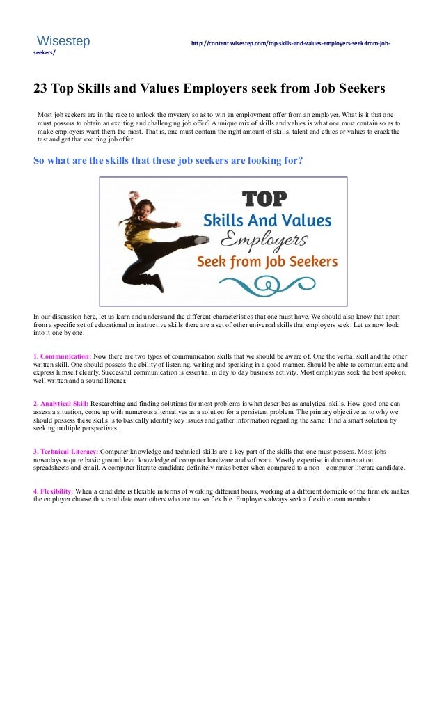 23 top  skills and  values  employers  seek from