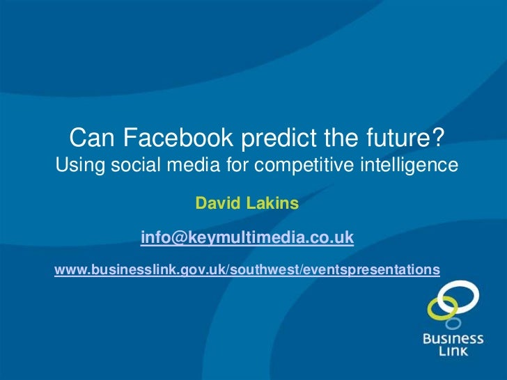 Can facebook predict the future - Dorset