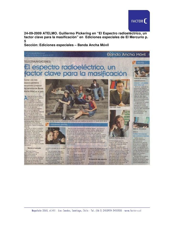 """24-09-2009 ATELMO. Guillermo Pickering en """"El Espectro radioeléctrico, un factor clave para la masificación"""" en Ediciones ..."""