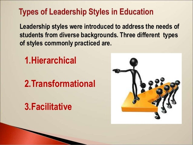 leadership styles in education The six leadership styles for effective team performance daniel goleman (2002) created the six leadership styles and found, in.