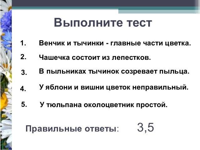 Правильные ответы: 3,5