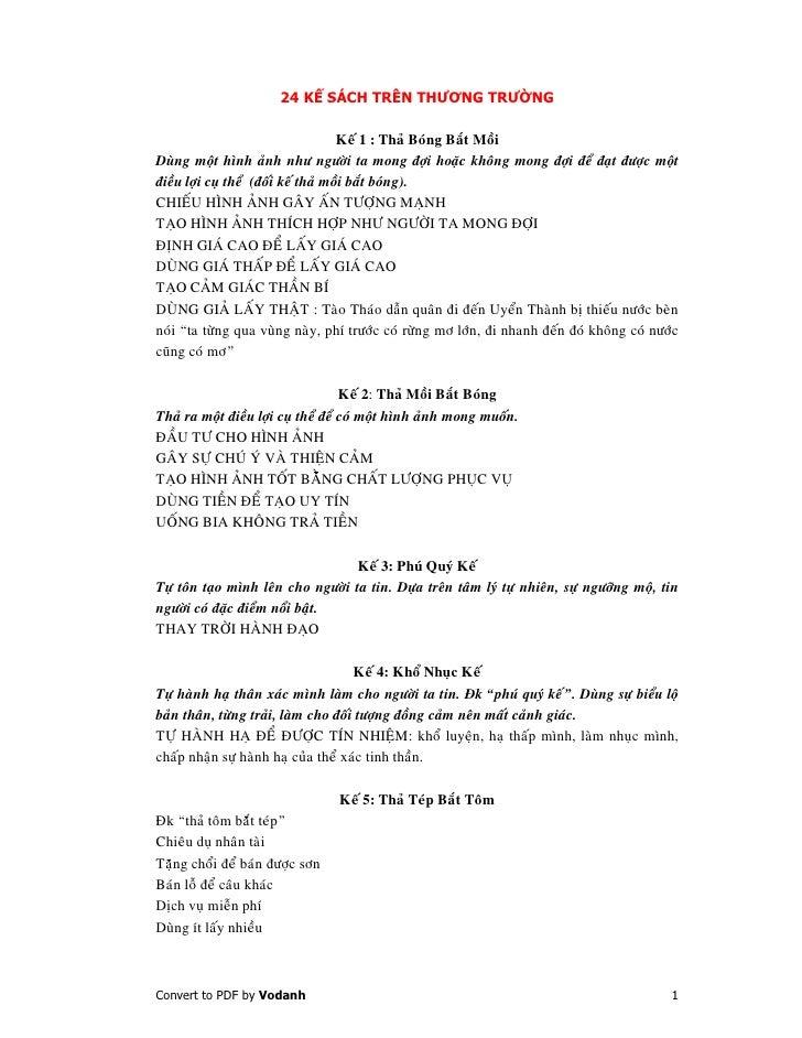 24 K SÁCH TRÊN THƯƠNG TRƯ NG                                       Keá 1 : Thaû Boùng Baét Moài Duøng moät hình aûnh nhö n...