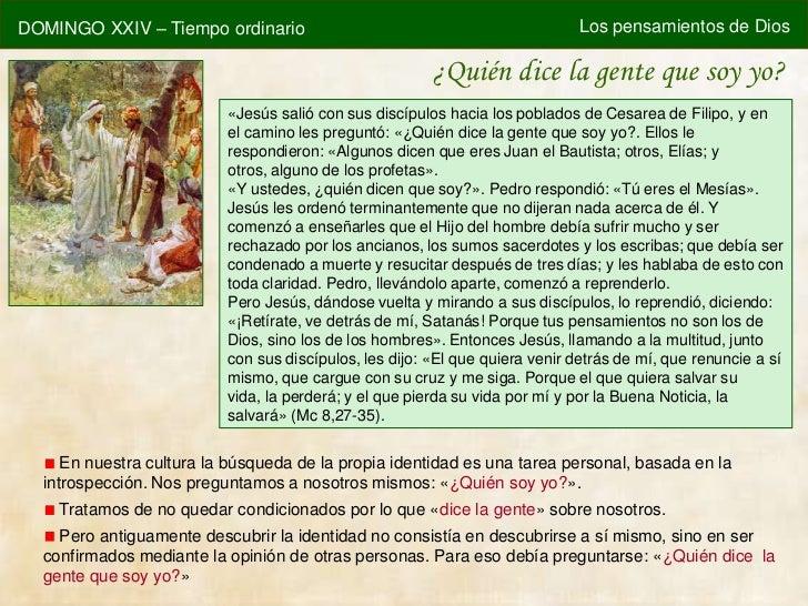 DOMINGO XXIV – Tiempo ordinario                                              Los pensamientos de Dios                     ...