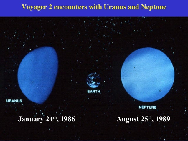 Voyager 2 encounters with Uranus and Neptune                             August 25th, 1989January 24th, 1986           Aug...