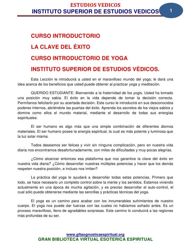 24 01 estudios vedicos www.gftaognosticaespiritual.org