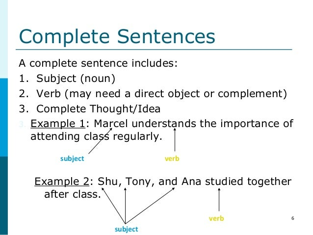 English Sentence Structure Formation