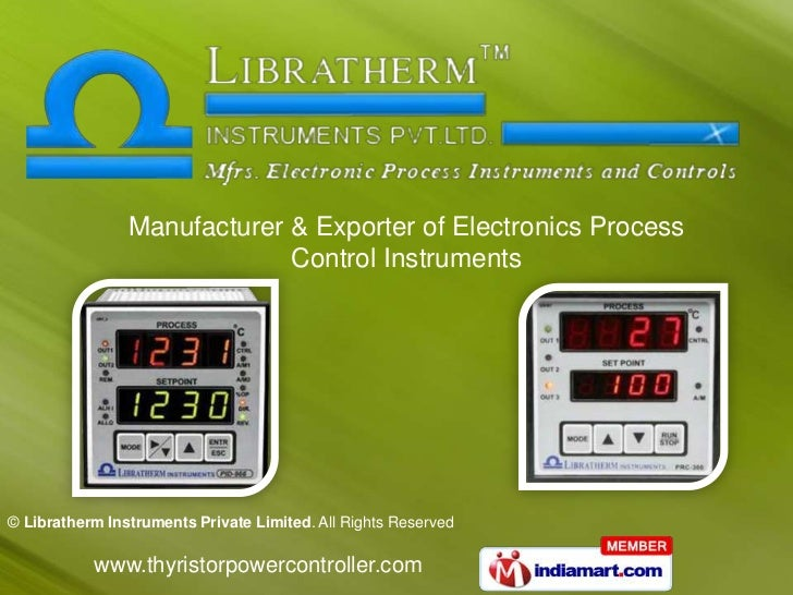 Manufacturer & Exporter of Electronics Process                             Control Instruments© Libratherm Instruments Pri...
