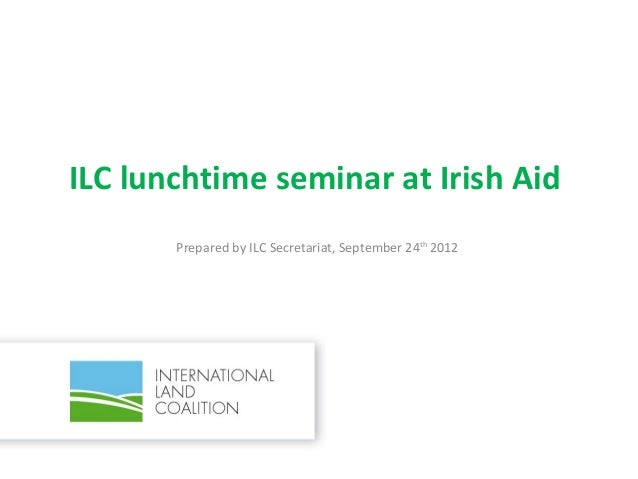 ILC lunchtime seminar at Irish Aid