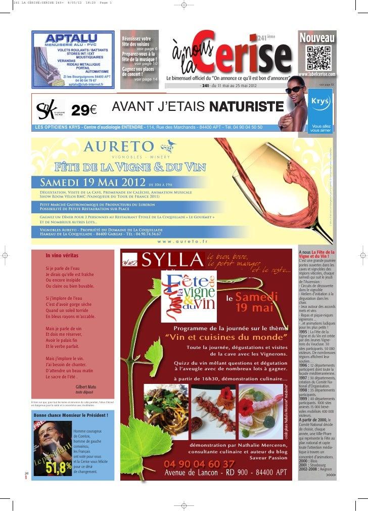 241 LA CERISE:CERISE 240+                       8/05/12           18:20         Page 1                                    ...