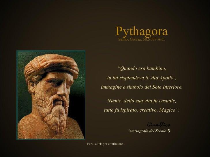 """Pythagora """" Quando era bambino , in lui risplendeva il 'dio Apollo ', immagine e simbolo del Sole Interiore . Niente  dell..."""