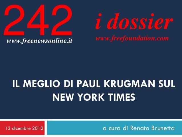 Il meglio di Paul Krugman sul NYT