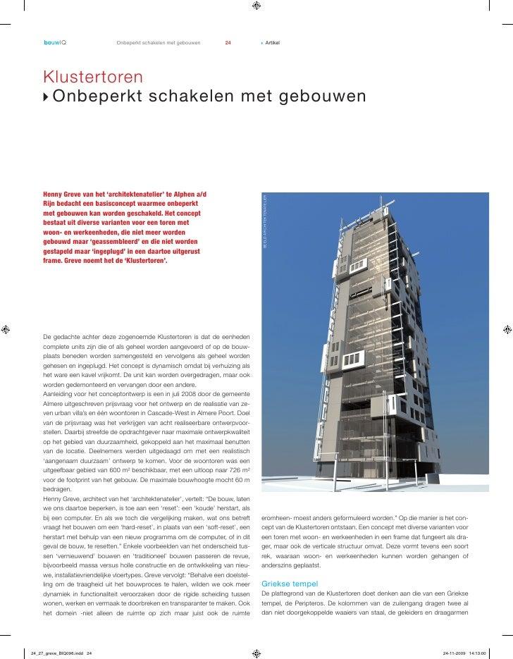 Onbeperkt schakelen met gebouwen         24           ▶               Artikel          Klustertoren      ▶ Onbeperkt scha...