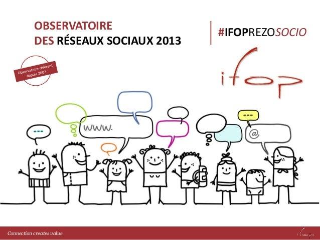 OBSERVATOIRE DES RÉSEAUX SOCIAUX 2013  Connection creates value  #IFOPREZOSOCIO
