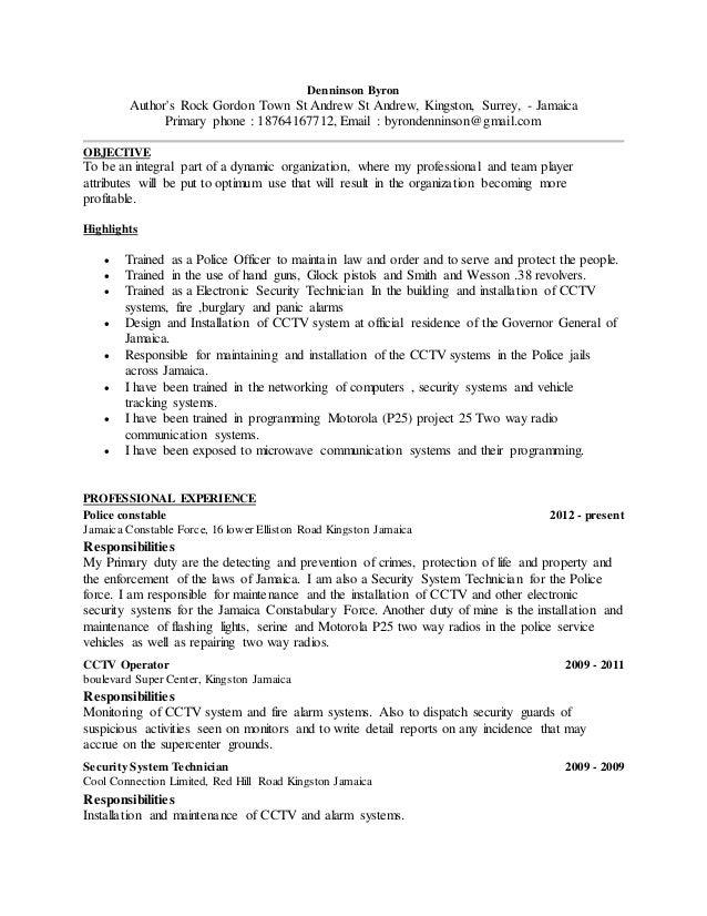 communication operator resume - Cctv Operator Sample Resume