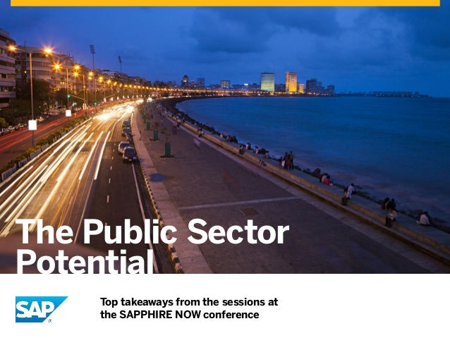 The Public Sector Potential Top takeaways from the sessions at the SAPPHIRE NOW conference