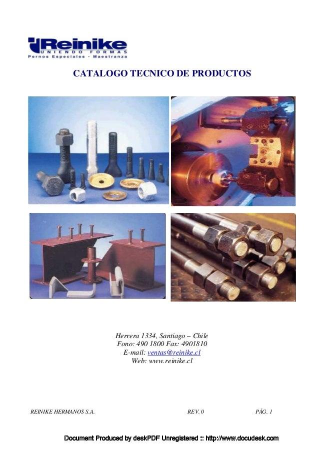 Catalogo tecnico pernos y tuercas for Tipos de tuercas
