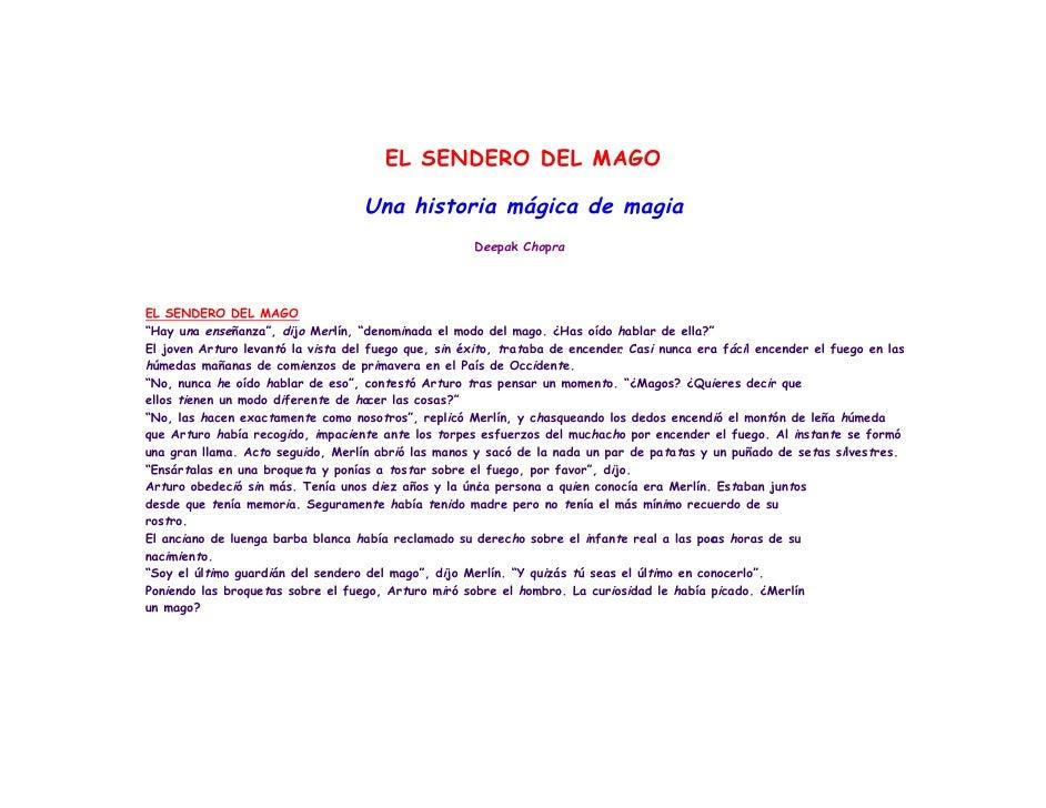EL SENDERO DEL MAGO                                   Una historia mágica de magia                                        ...