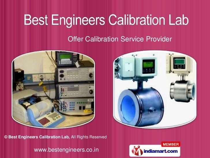 Best Engineers Calibration Lab Tamil Nadu India