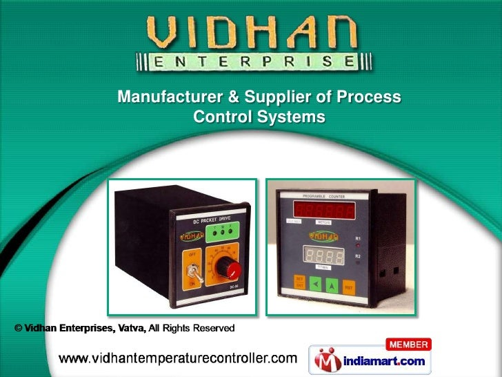 Manufacturer & Supplier of Process        Control Systems