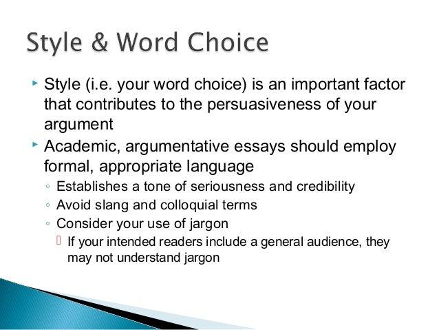 ESSAY HELP , word choice.!?