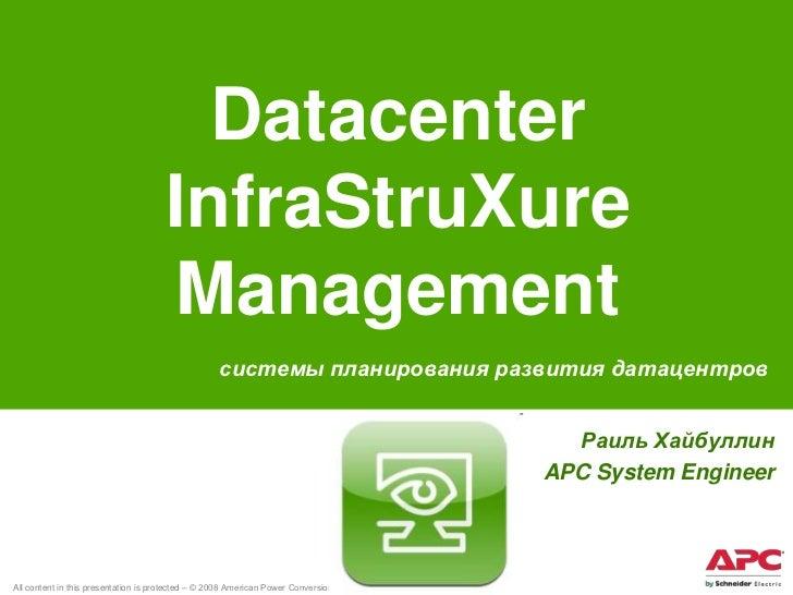 Datacenter                                      InfraStruXure                                      Management             ...