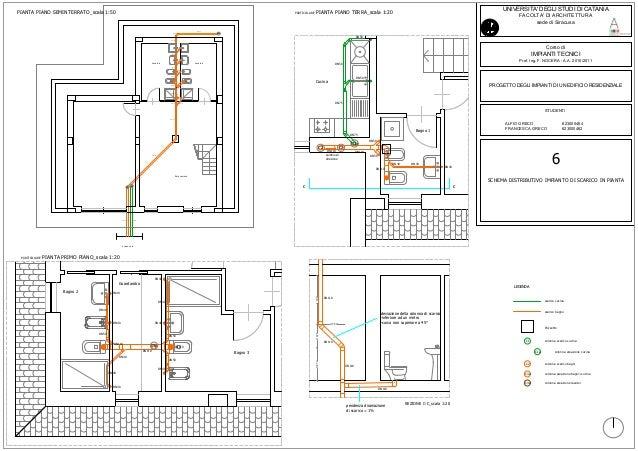 Schema scarico bagno idee creative e innovative sulla for Disegno di piano domestico