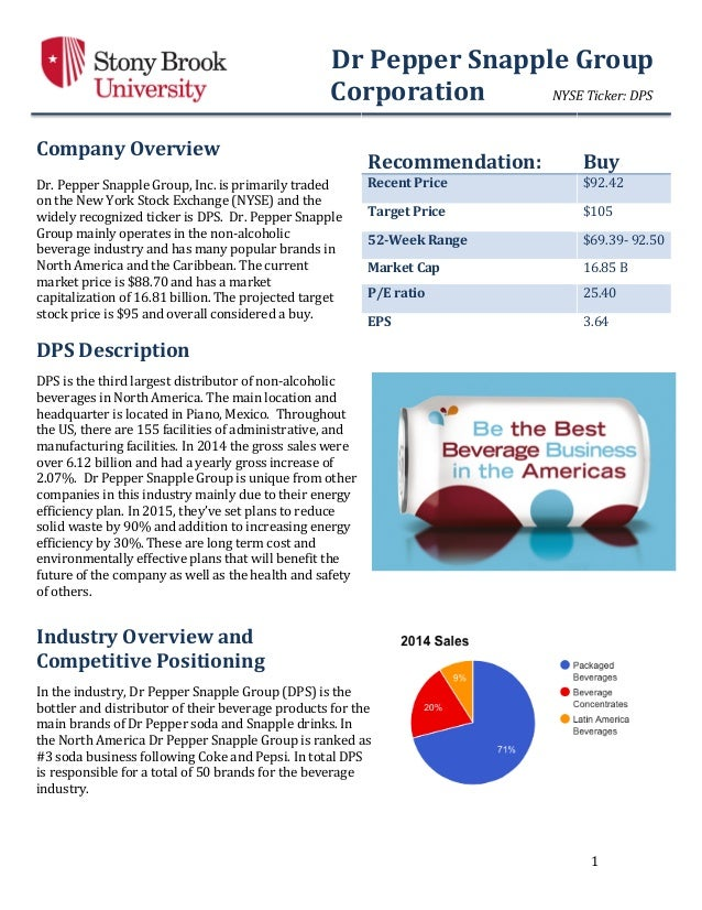 dr pepper snapple group case study 2 essay Essay on case study prac 1 practice case 1: week 2 – seminar 4 dr pepper snapple group, inc: energy beverages– kerin p 105 case questions: 1.