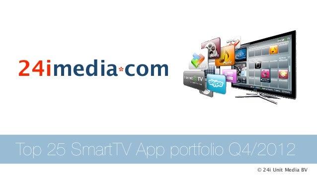 24imedia*comTop 25 SmartTV App portfolio Q4/2012                               © 24i Unit Media BV