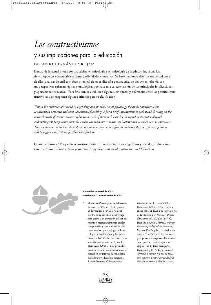 Perfiles122clavescuadros          2/13/09       8:00 PM        Página 38                Los constructivismos            y ...