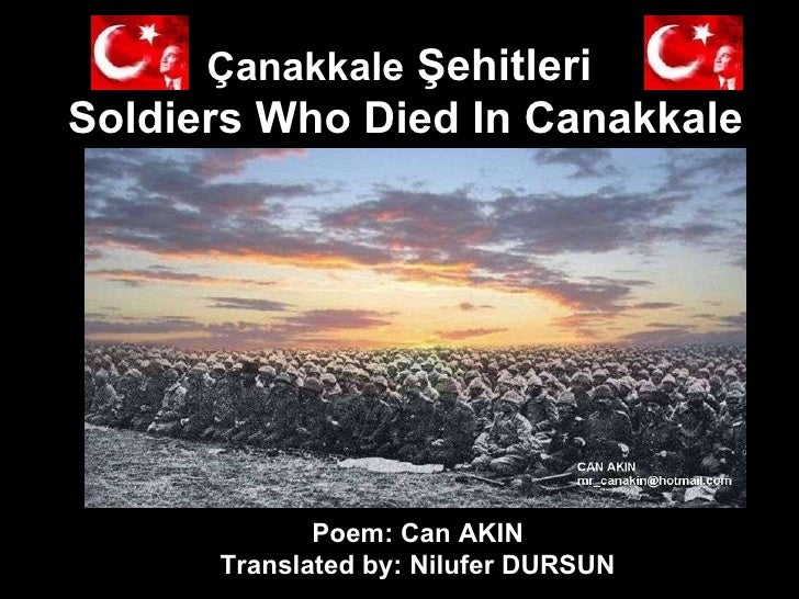 Mr Can Akın - I Love You - Book Of Poetry - 24 - Soldiers Who Died In Canakkale