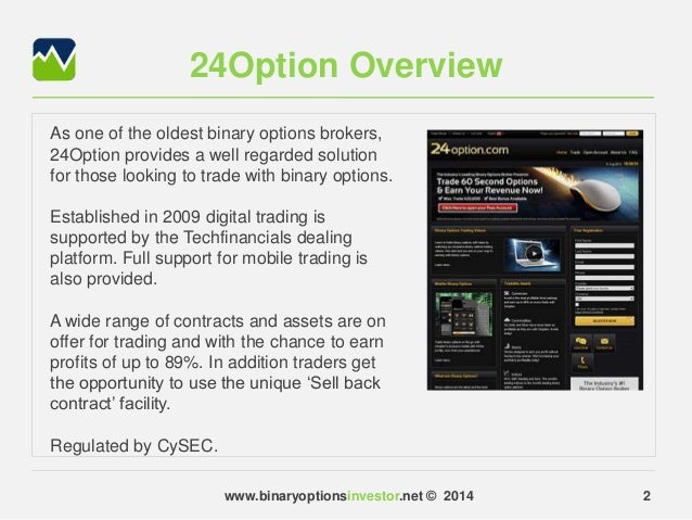 Binary options broker definition