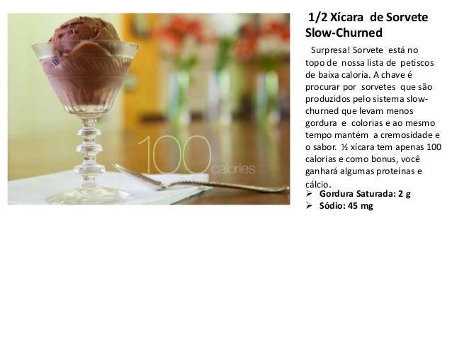 1/2 Xícara de SorveteSlow-Churned  Surpresa! Sorvete está notopo de nossa lista de petiscosde baixa caloria. A chave éproc...