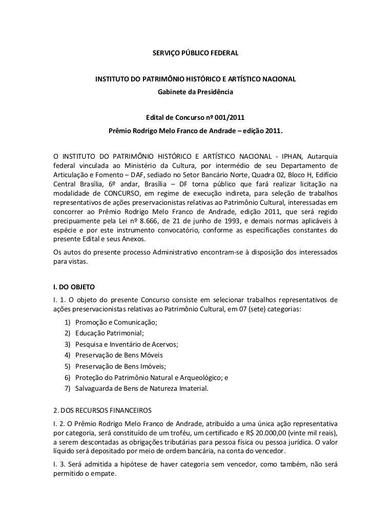 SERVIÇOPÚBLICOFEDERAL                                                                INSTITUTODOPATRIMÔNIOHISTÓRICO...