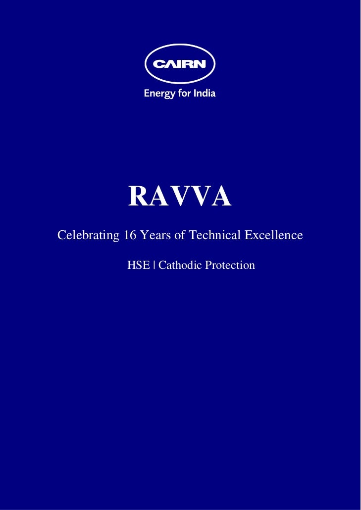 RAVVA    Celebrating 16 Years of Technical Excellence                HSE | Cathodic Protection