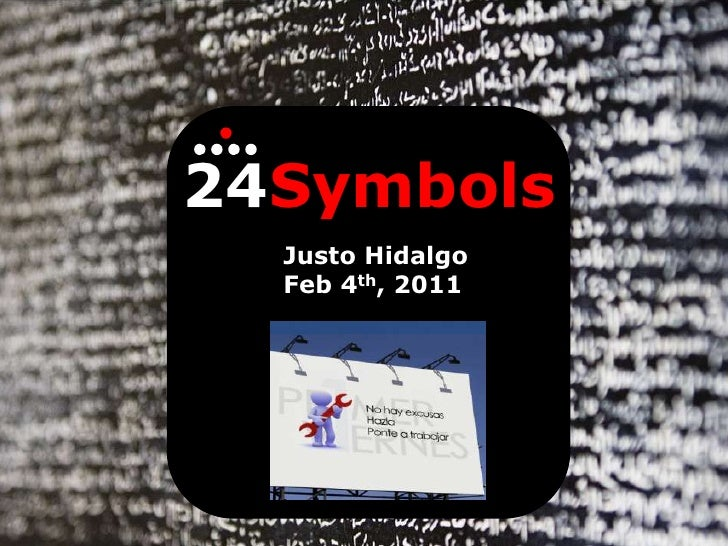 Presentation of 24symbols to primerviernes