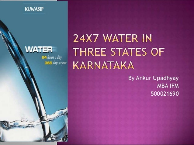 24 x7 water in three states of karnataka