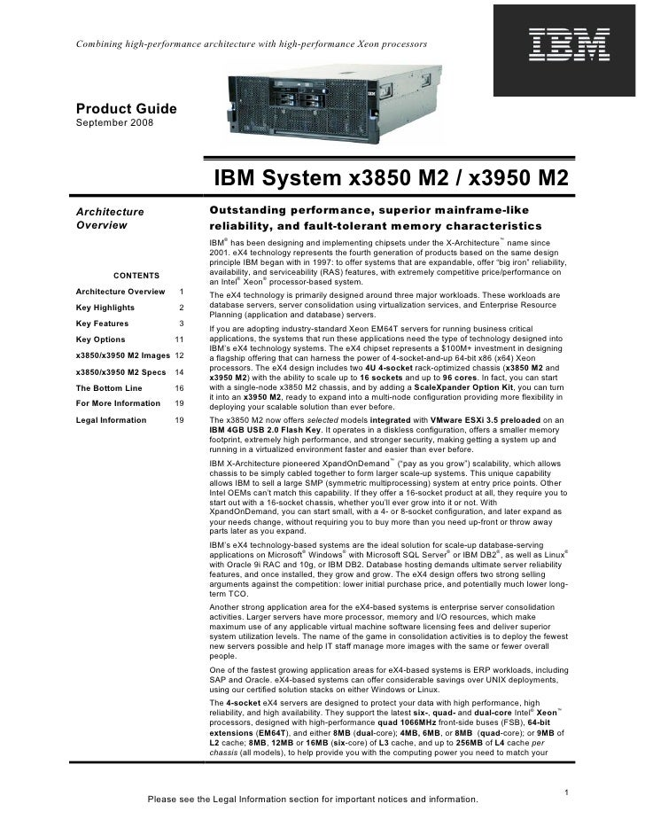 Combining high-performance architecture with high-performance Xeon processorsProduct GuideSeptember 2008                  ...