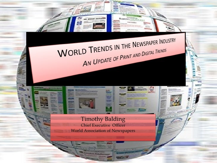 Timothy Balding Chief Executive  Officer World Association of Newspapers