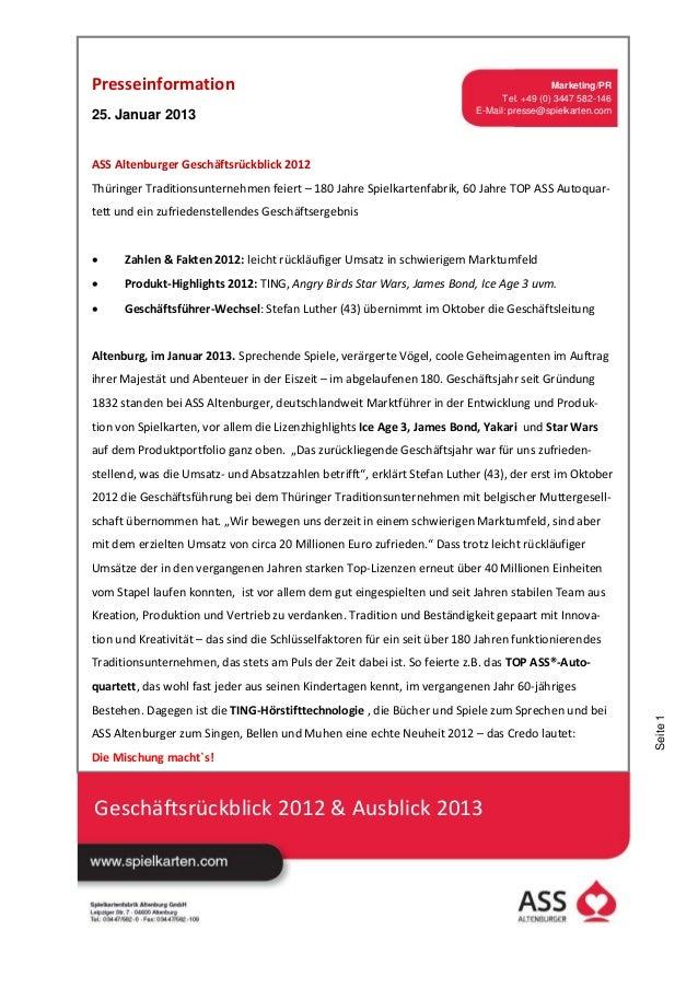 Presseinformation                                                                           Marketing/PR                  ...