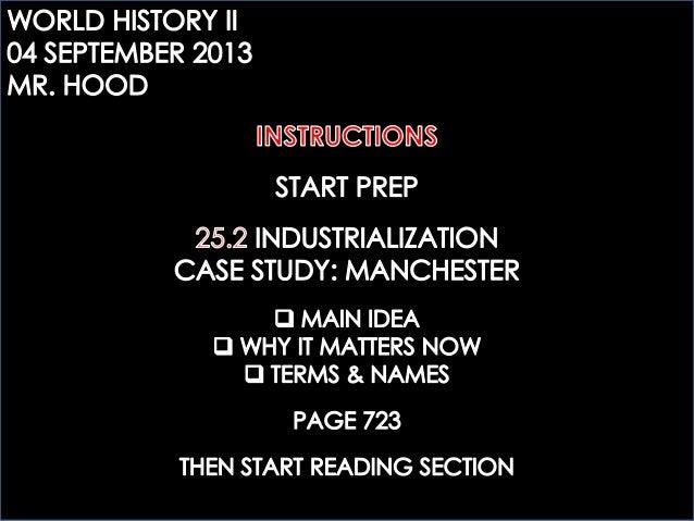 WHTWO: 25.2 INDUSTRIALIZATION