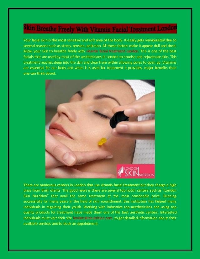 Facial treatment in london