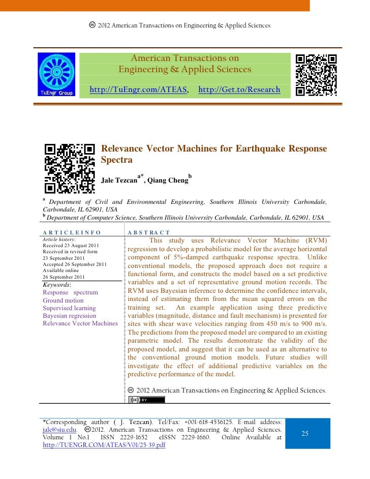 Relevance Vector Machines for Earthquake Response Spectra
