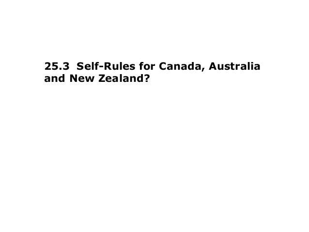 25.3 Self-Rules for Canada, Australiaand New Zealand?