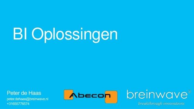 25 6-2013 - abecon inspiratiedag - breinwave bi solutions