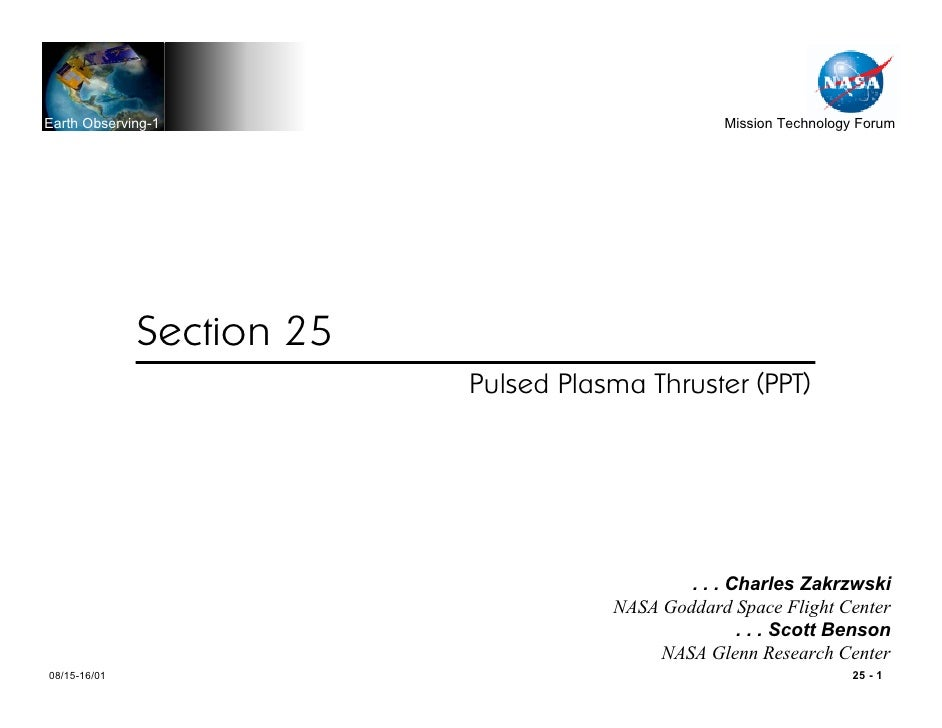 Earth Observing-1                                  Mission Technology Forum                   Section 25                  ...
