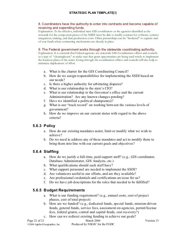 25 Strategic Plan Template