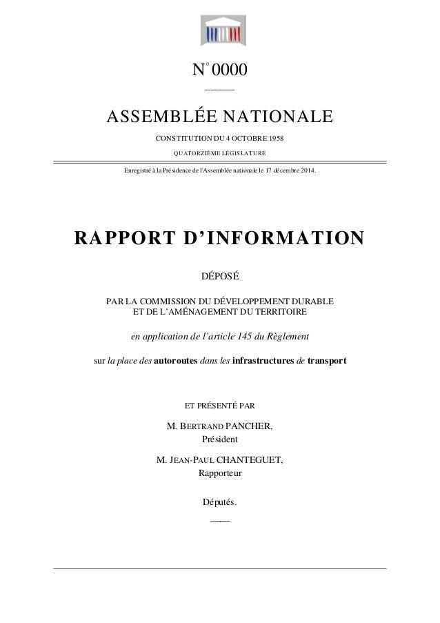 N° 0000 ______ ASSEMBLÉE NATIONALE CONSTITUTION DU 4 OCTOBRE 1958 QUATORZIÈME LÉGISLATURE Enregistré à la Présidence de l'...