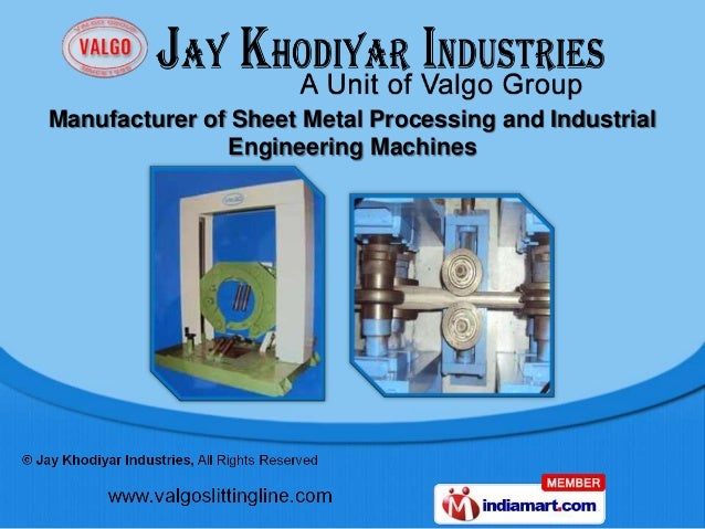 Manufacturer of Sheet Metal Processing and Industrial               Engineering Machines