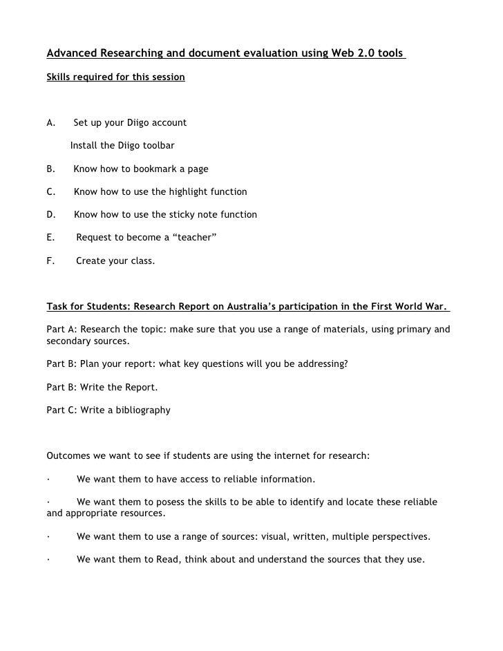 Instructions for teachers